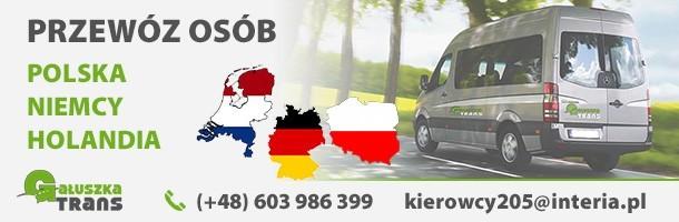 Reklama Gauszka trans - busy do Niemiec