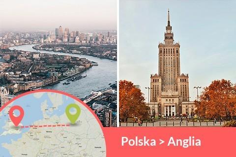 Przewozy busem z Polski do Anglii codziennie z adresu na adres, Busy jeżdżą do każdego miasta w Anglii w najniższych cenach