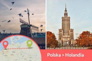 Przewozy busem z Polski do Holandii codziennie z adresu na adres, Busy jeżdżą do każdego miasta w Holandii w najniższych cenach
