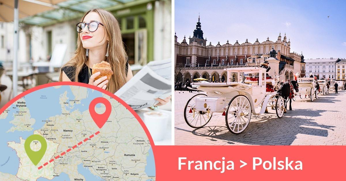 Codziennie wyjeżdżają busy z Francji do Polski przewożąc pasażerów z adresu na adres