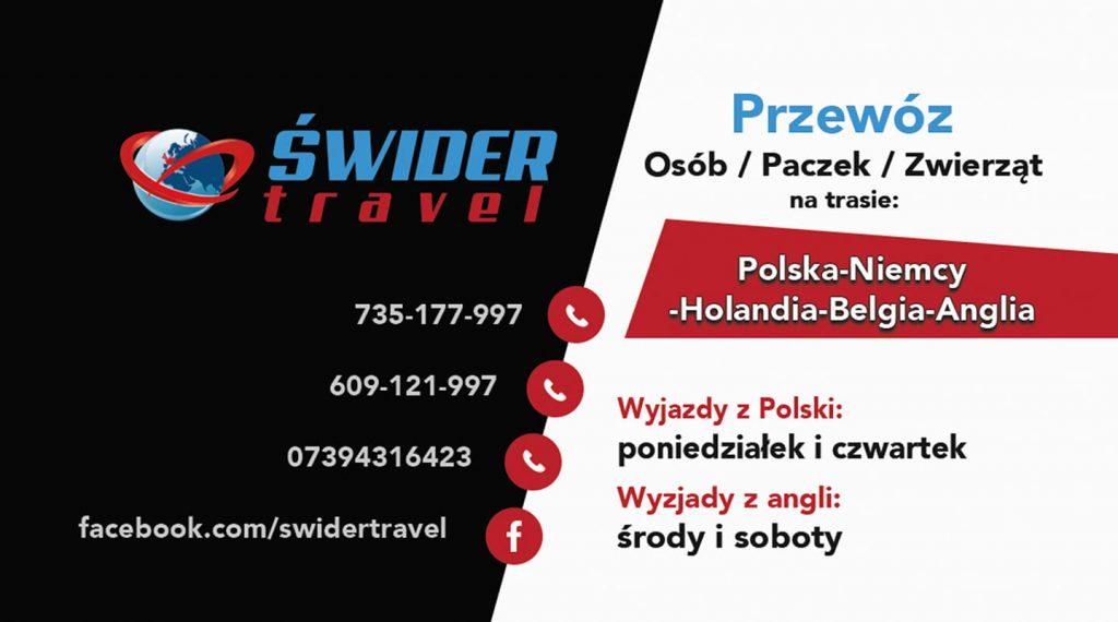 Baner reklamowy swider Travel
