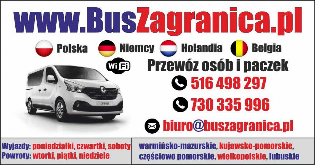 Tanie busy z Holandii do Polski i Bus do Holandii