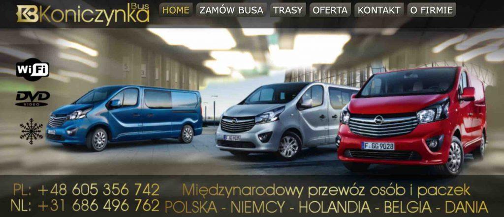 koniczynka bus do polski - wylaczyc 17. maja